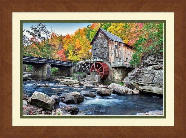 Mary Almond - Glade Creek Grist Mill Print