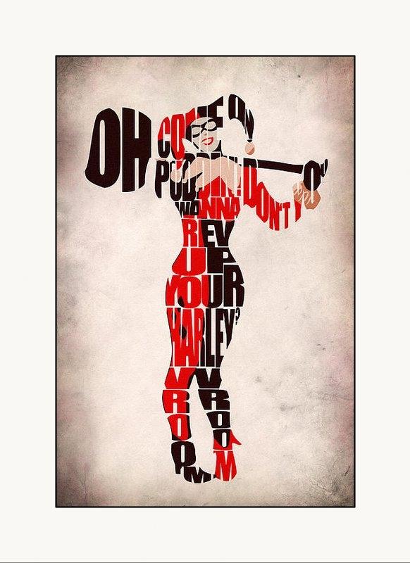 Ayse Deniz - Harley Quinn Print