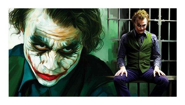 Sheraz A - The Joker Artwork Print