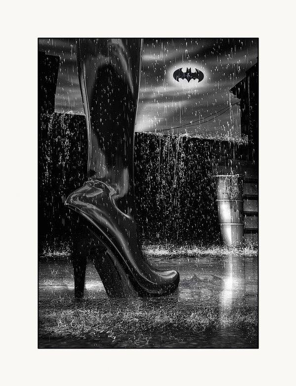 Bob Orsillo - Dark Knight Shinny Boots ... Print
