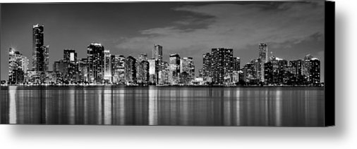 Jon Holiday - Miami Skyline at Dusk Bla... Print