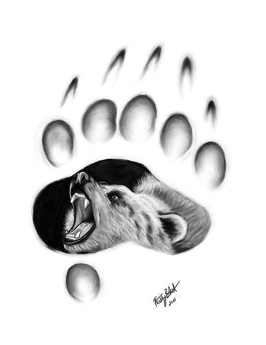 Kristy Blunt - Bear Paw Print