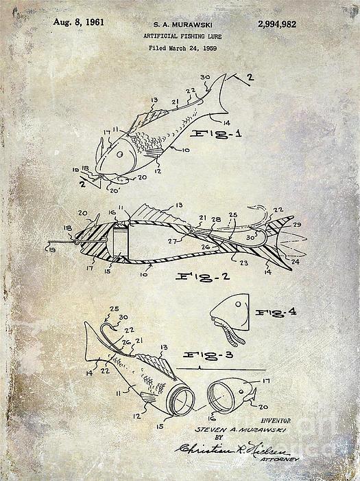 Jon Neidert - Fishing Lure Patent 1959 Print
