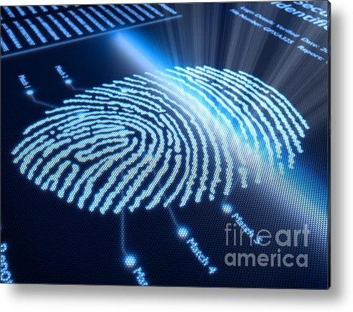 Johan Swanepoel - Fingerprint on pixellated... Print