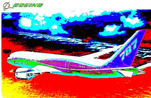 Ricky Nathaniel - Boeing Dreamliner Print