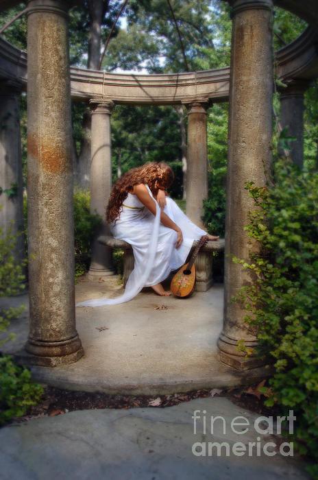 Jill Battaglia - Young Woman as a Classica... Print