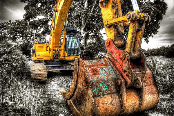 Mal Bray - Excavator Print