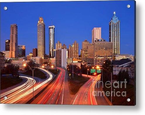 Jon Holiday - Atlanta Skyline in Mornin... Print