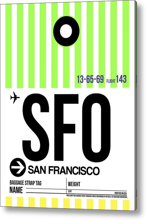 Irina  March - San Francisco Luggage Tag... Print