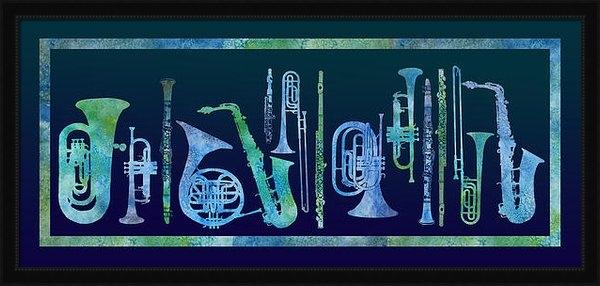 Jenny Armitage - Cool Blue Band Print
