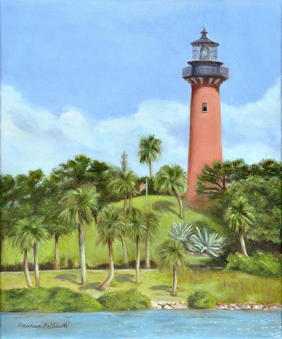 Maureen Pelkowski - Jupiter Lighthouse Print
