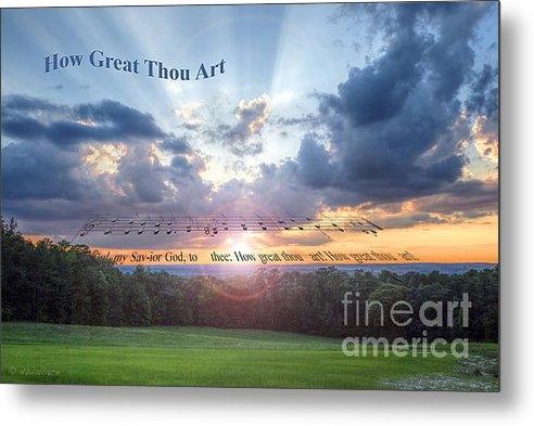 D Wallace - How Great Thou Art Sunset Print
