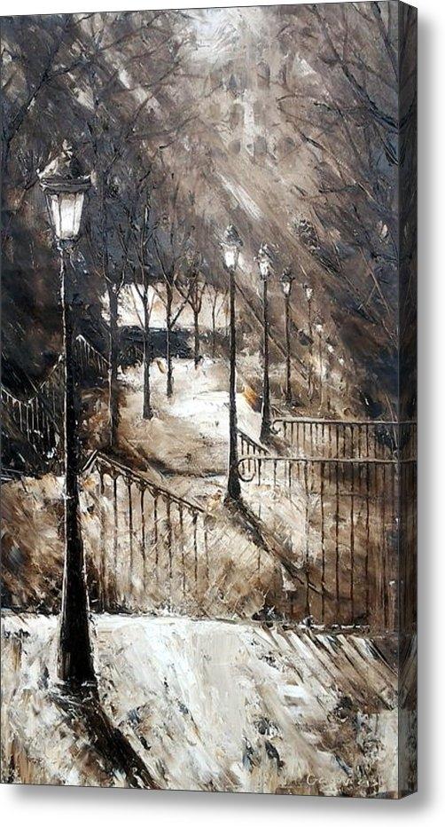 Milena Gargovitza - Montmartre Stairs Print