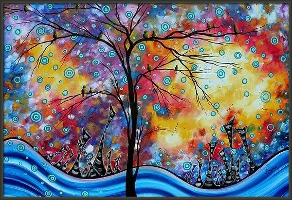Megan Duncanson - Enormous Whimsical Citysc... Print