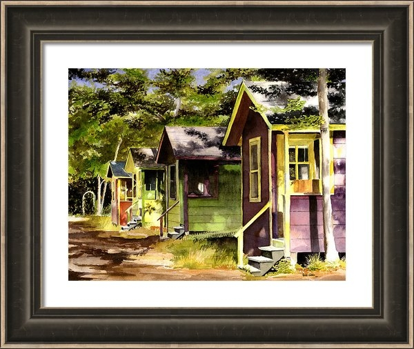 Heidi Gallo - Colorful Cottages Print