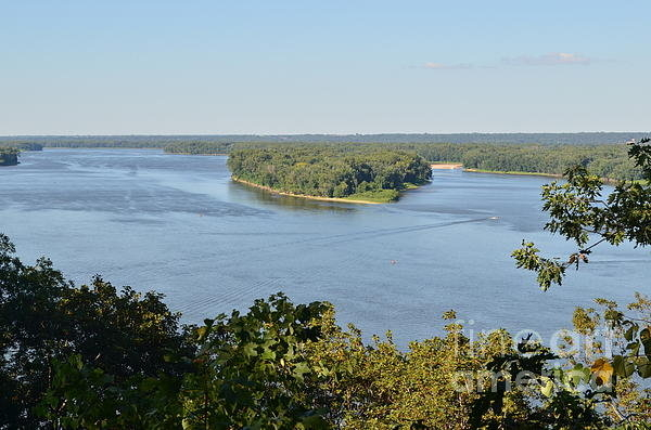 Luther   Fine Art - Mississippi River Overloo... Print