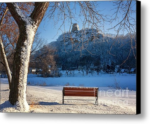 Kari Yearous - Seat with a View in Winte... Print