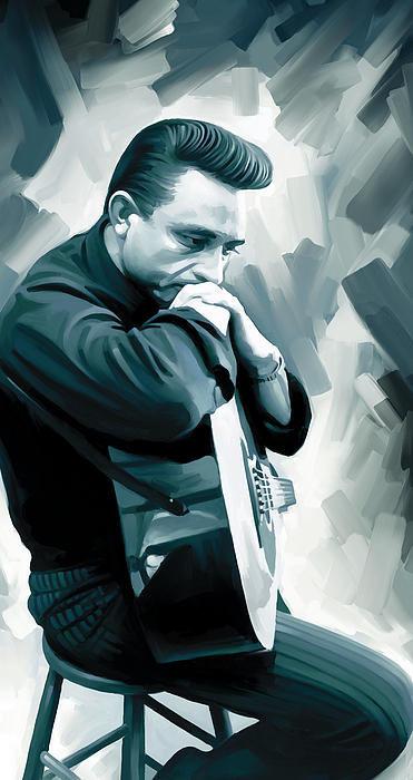 Sheraz A - Johnny Cash Artwork 3 Print