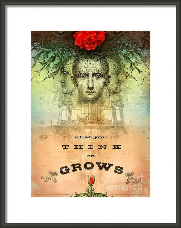 Silas Toball - What You Think on Grows Print