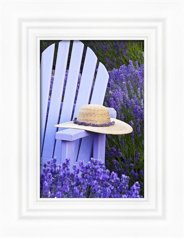 Eggers   Photography - Lavender Field Resting Pl... Print