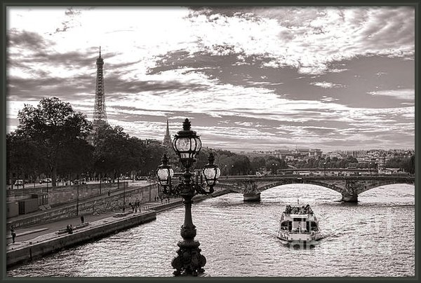 Olivier Le Queinec - Cruise on the Seine Print