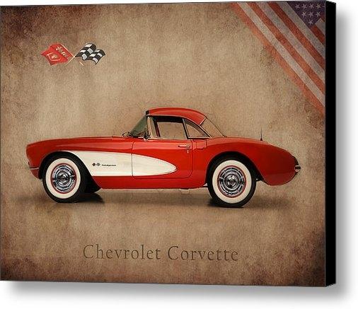 Mark Rogan - Chevrolet Corvette 1957 Print