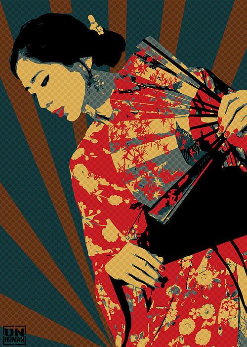 Unhuman Bg - Geisha 1 Print