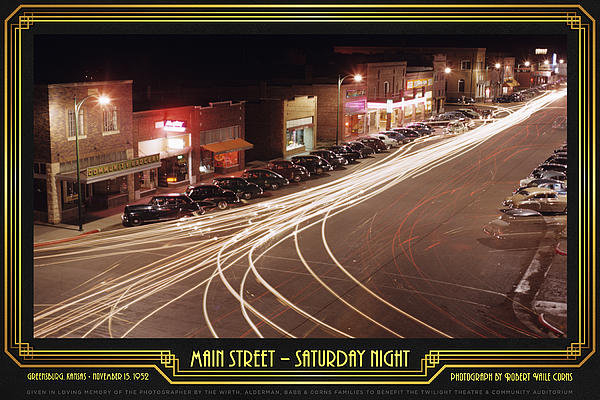 Robert Vaile Corns - Main Street - Saturday Ni... Print