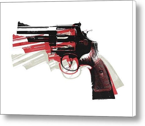 Michael Tompsett - Revolver on White - left ... Print