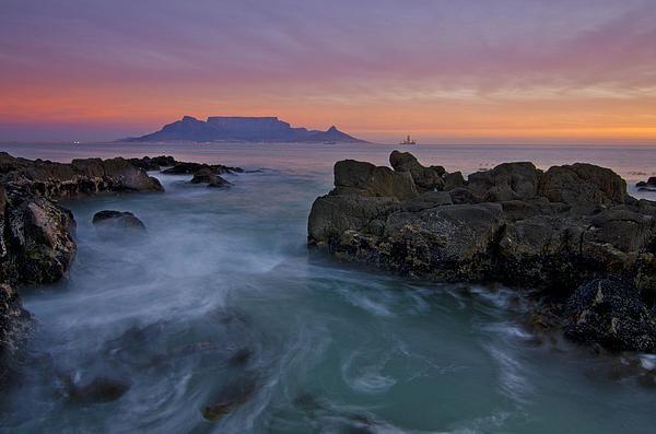 Aaron S Bedell - Table Mountain Sunset Print