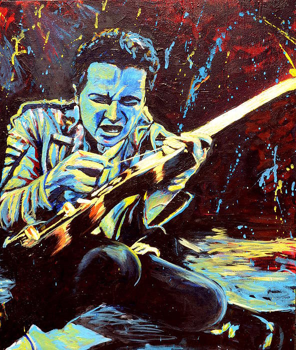 Kat Richey - Joe Strummer with Fender ... Print