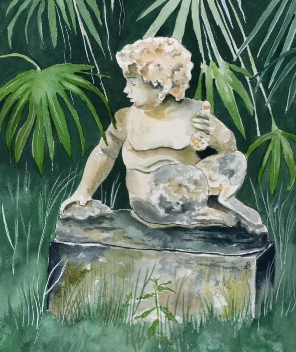 Brenda Owen - Garden Satyr Print