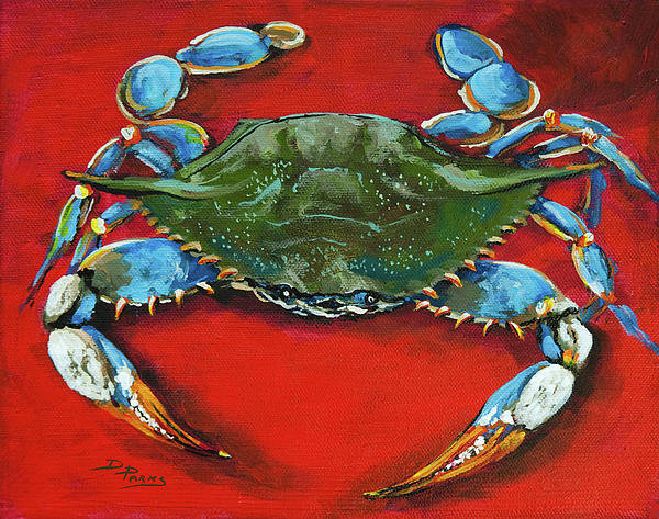 Dianne Parks - Louisiana Blue on Red Print