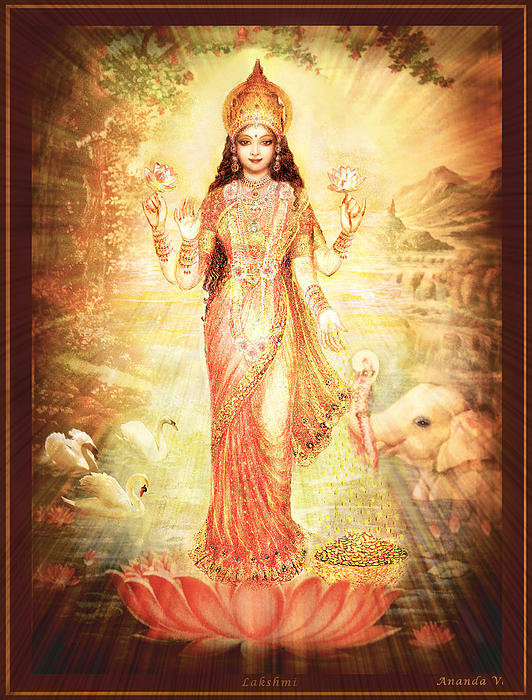 Ananda Vdovic - Lakshmi Goddess of Fortun... Print