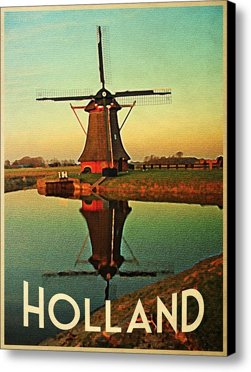 Flo Karp - Vintage Holland Windmill Print
