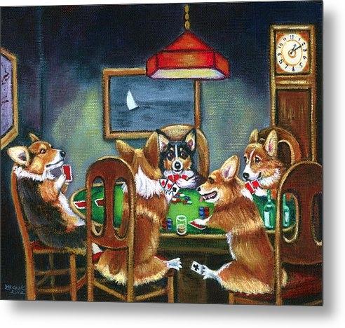 Lyn Cook - The Corgi Poker Game Print