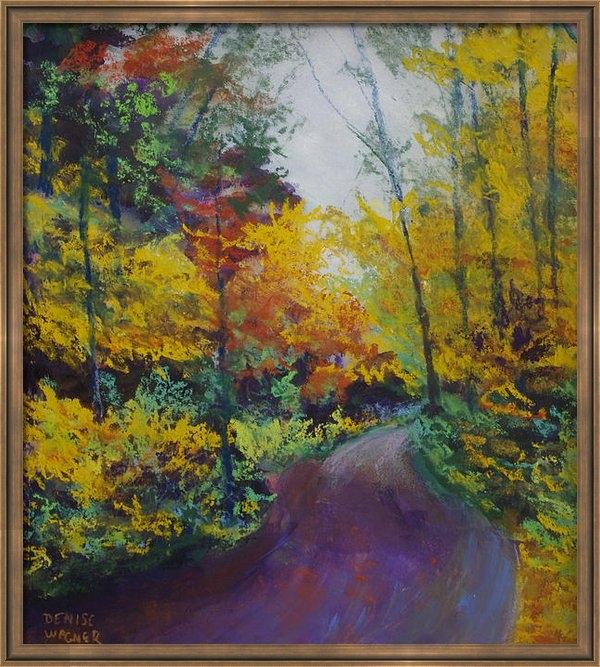 Denise Wagner - Fall Road to Whipple Dam Print