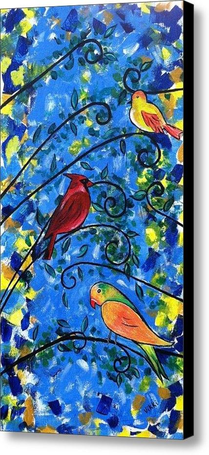 Vikki Angel - Birds of Color Print