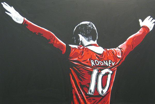 Geo Thomson - Wayne Rooney - Manchester... Print