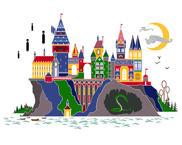 Christopher Ables - Pop Art Hogwarts Print