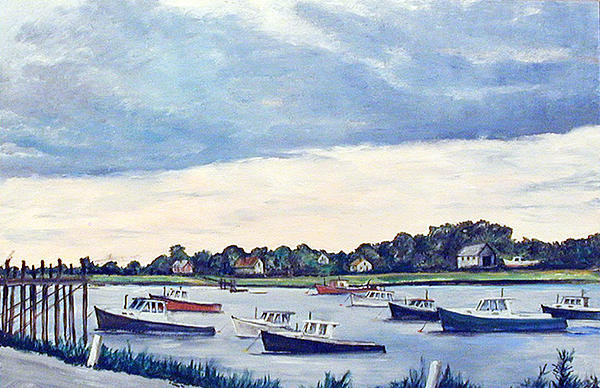 Robert Harvey - Lobster Boat Flotilla Print