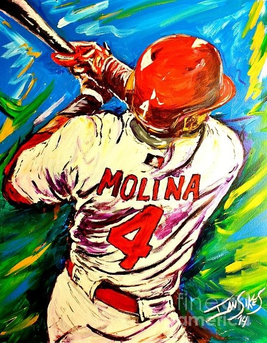 Ian Sikes - Molina At Bat Print