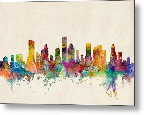 Michael Tompsett - Houston Texas Skyline Print