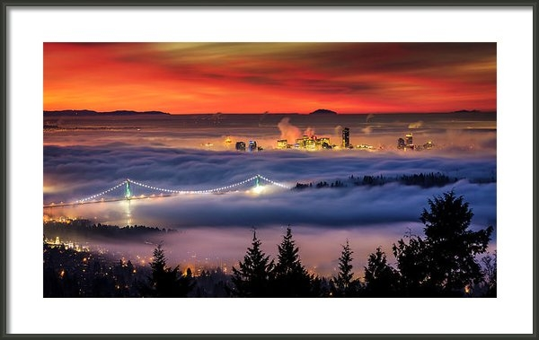 Alexis Birkill - Fog Inversion over Vancou... Print