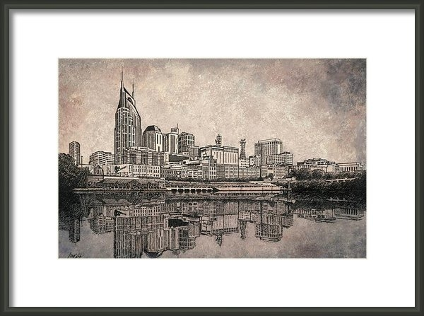 Janet King - Skyline of Nashville Tenn... Print