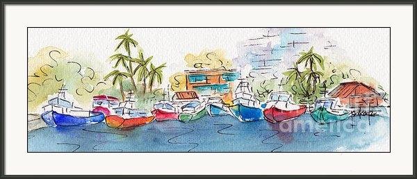 Pat Katz - Honolulu Marina Print