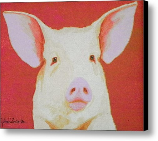 John Pinkerton - Alert Pig Print