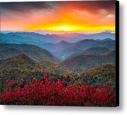 Dave Allen - Blue Ridge Parkway Autumn... Print