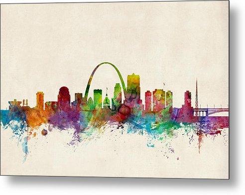 Michael Tompsett - St Louis Missouri Skyline Print