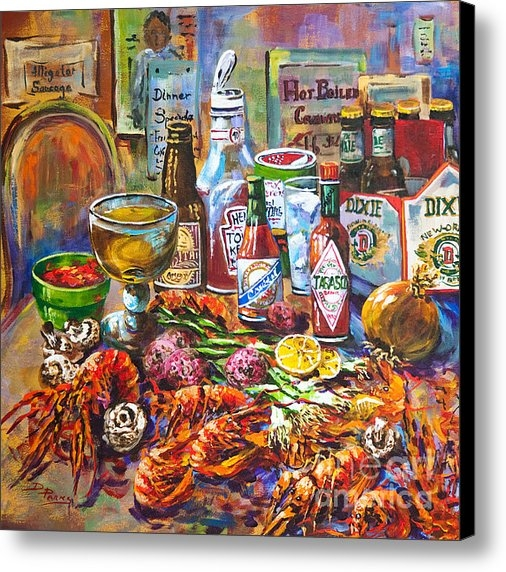 Dianne Parks - La Table de Fruits de Mer Print